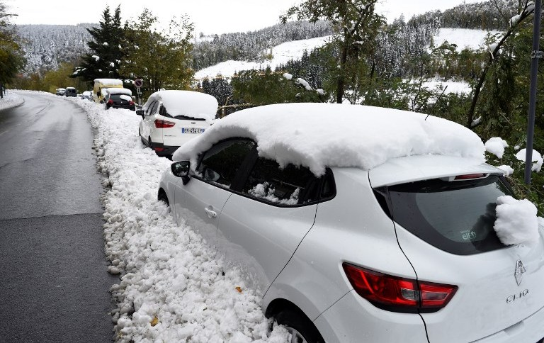 Снег вее во Хрватска