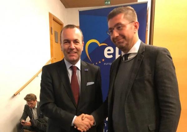 Мицкоски му честиташе на Вебер: Со нетрпение очекувам да работиме заедно за интеграција на Република Македонија