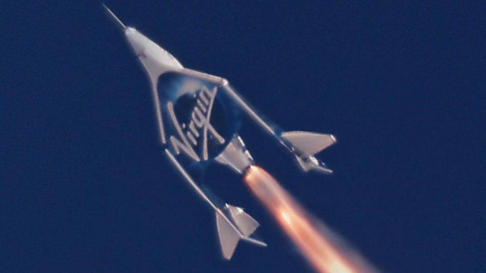 """Туристичкото летало на """"Вирџин Галактик"""" стигна до работ на вселената"""