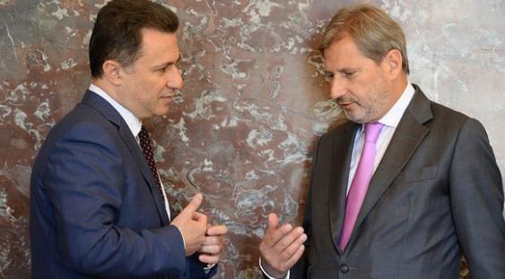 Хан го прочитал писмото на Груевски, но не сака да го коментира