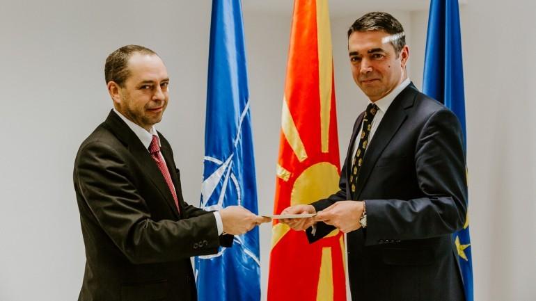 Димитров се сретна со новиот бугарски Амбасадор во Македонија