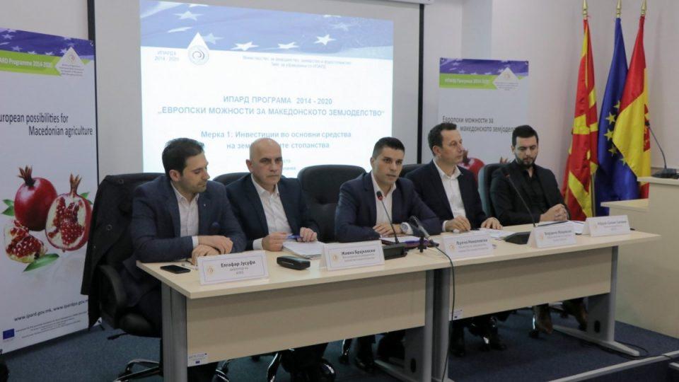 МЗШВ: Реализирани околу 5 милиони евра инвестиции преку првиот повик од ИПАРД 2