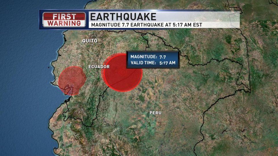 Силен земјотрес го погоди Еквадор (ВИДЕО)
