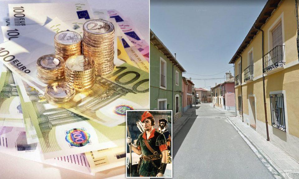 """Шпански """"Робин Худ"""" им остава коверти со по 100 евра на жителите на селото Виљарамиел"""