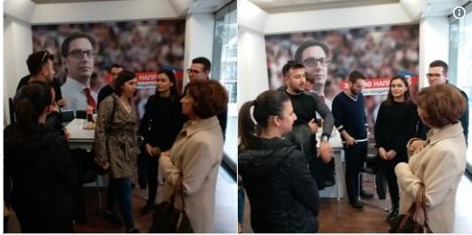 Сиљановскa го посети изборниот штаб на Пендаровски