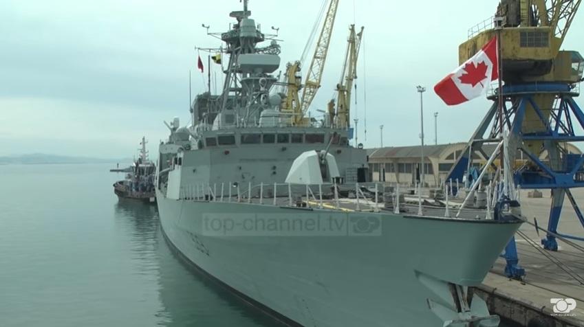 Бродови на НАТО на воена вежба со албанската морнарица (ВИДЕО)