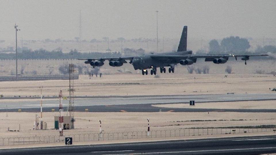 Американски бомбардери Б-52 пристигнаа во Катар (ВИДЕО)