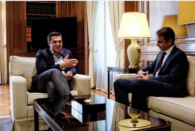 По победата: Mицотакис побара од Ципрас да си поднесе оставка