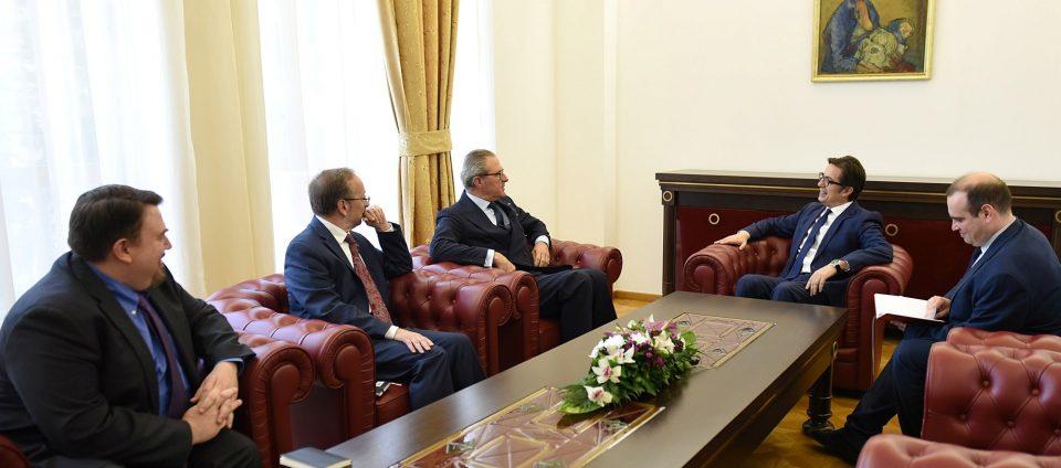 Пендаровски се сретна со шефот на мисијата на ОБСЕ во Скопје, Клеменс Која