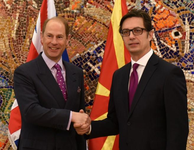 Принцот Едвард се сретна се сретна со претседателот Пендаровски (ФОТО)