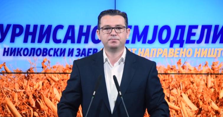 Трипуновски: Извештајот на ЕК потврди дека Заев и Николовски го урнисаа земјоделството