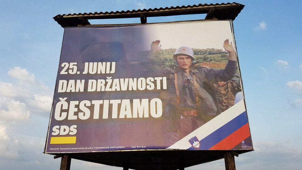 Билборди за независноста на Словенија ги возбудија страстите во Србија