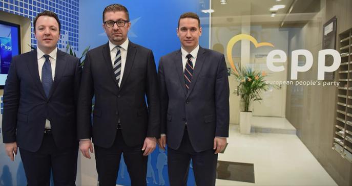 Николоски, Ѓорчев и Муцунски на Политичкото собрание на EПП во Брисел