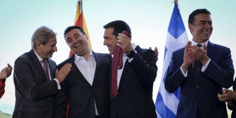 Во Грција само Коѕијас се сетил на Преспанскиот договор, ни збор од СИРИЗА
