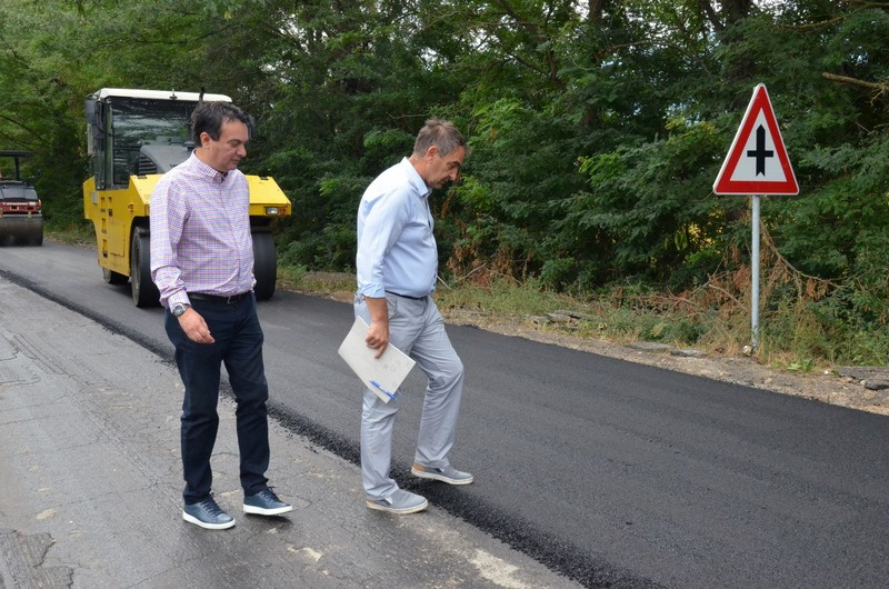 Сугарески и Китанов на увид на работите на патот Струмица-граничен премин Ново Село