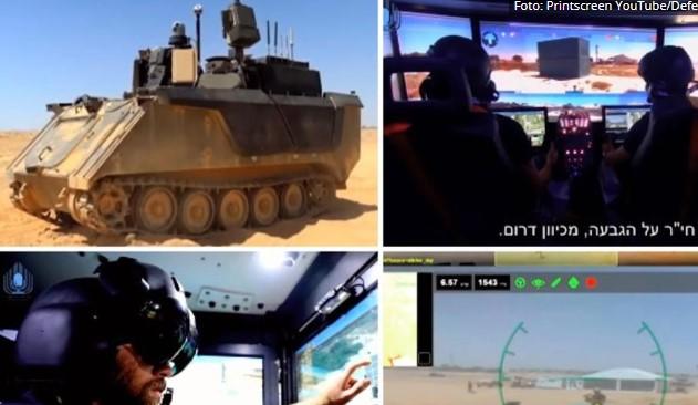 """Израелците прават """"паметен тенк"""": Ќе се управува на далечинско (ВИДЕО)"""