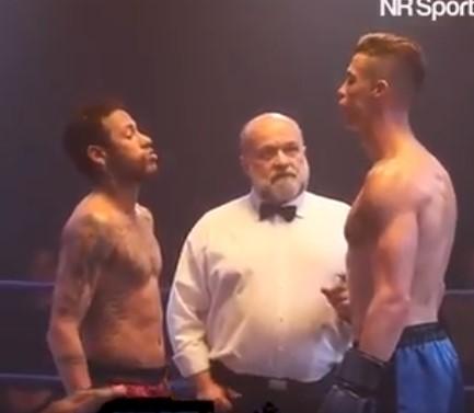 Koj го извлече подебелиот крај: Роналдо и Нејмар се степаа во рингот (ВИДЕО)
