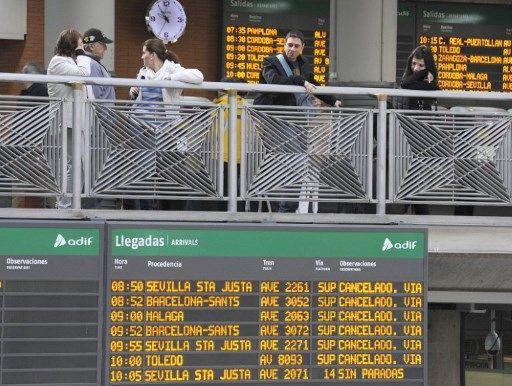 Поради штрајк, во прекин железничкиот сообраќај во Шпанија