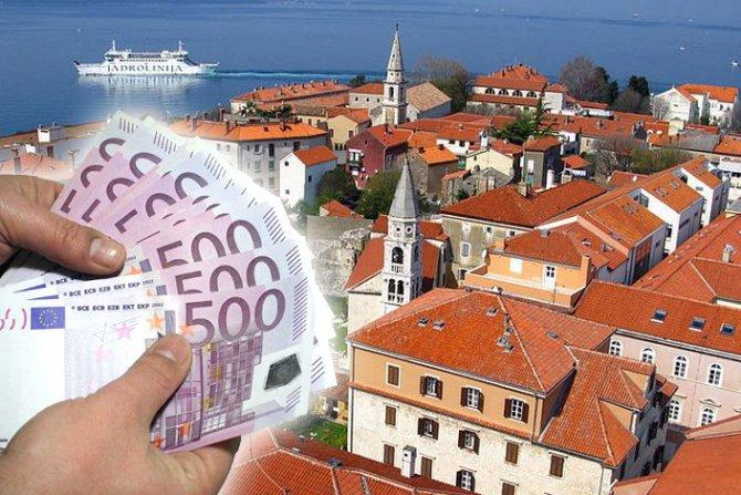 Просечна јунска нето плата во Хрватска е 875 евра