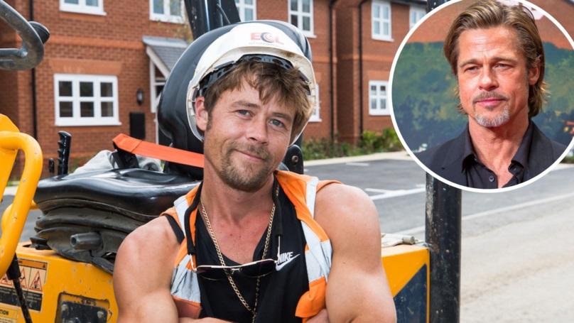 Градежник не може да оди никаде бидејќи многу личи на Бред Пит (ФОТО)