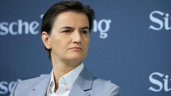 Српската премиерка в понеделник во посета на Скопје