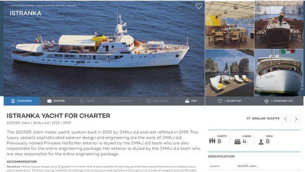 Луксузната јахта на Тито вплови на Ибица
