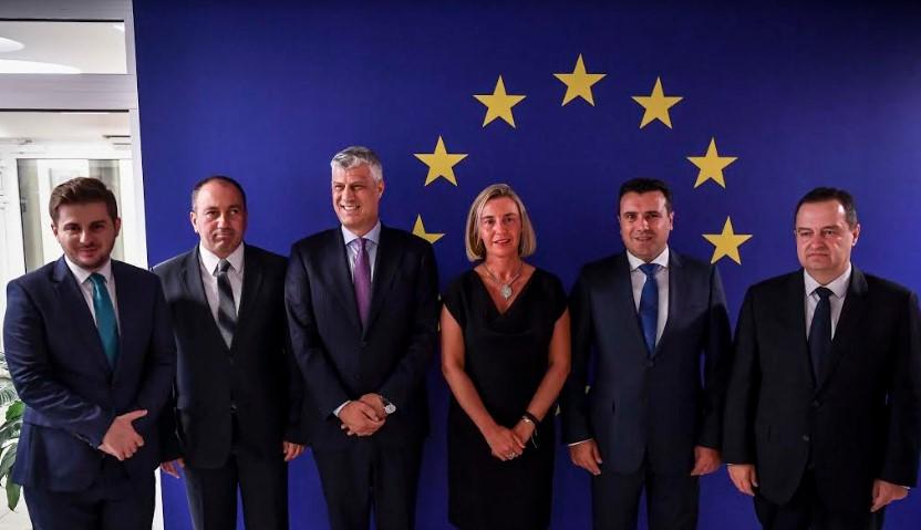 Заев со лидерите од Балканот на средба со Могерини: Maкедонија е подготвена да почне преговори со ЕУ