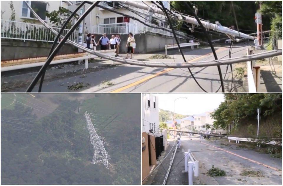 Тајфун во Јапонија одзеде два животи: 450 илјади куќи останаа без струја (ВИДЕО)