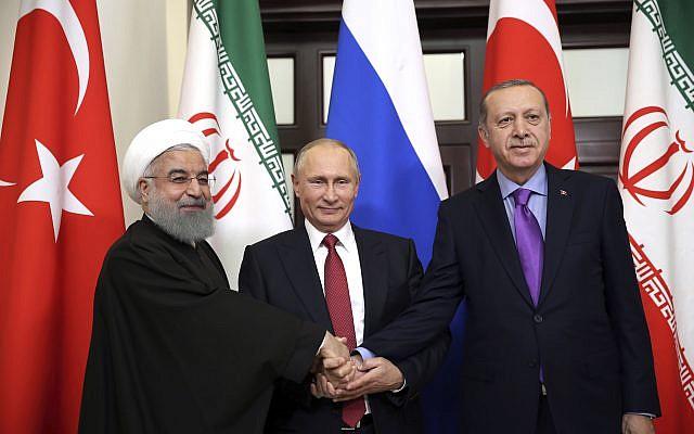 Путин, Ердоган и Рохани во понеделник повторно ќе разговараат за Сирија