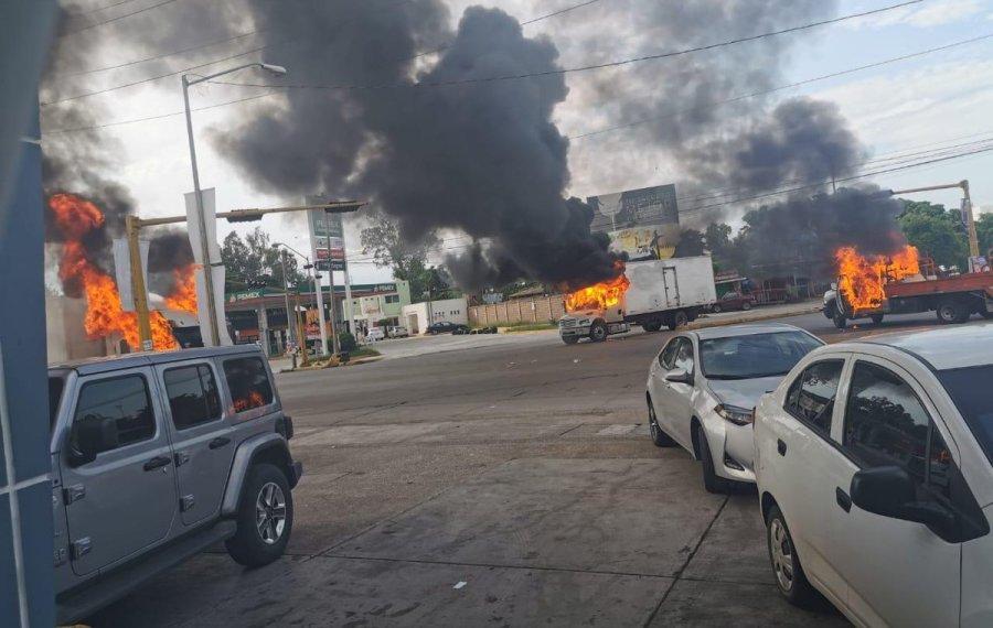 Улична војна во Мексико по апсењето на синот на Ел Чапо (ВИДЕО)