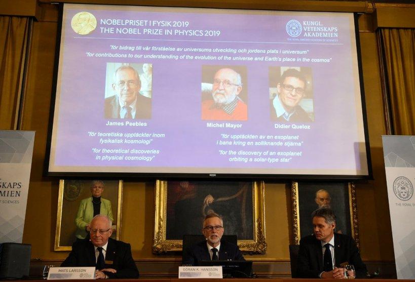 Нобеловата награда за физика за откритието нова планета надвор од Сончевиот систем