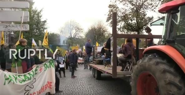 ВО ЖИВО: Протест на француските земјоделци во Стразбур