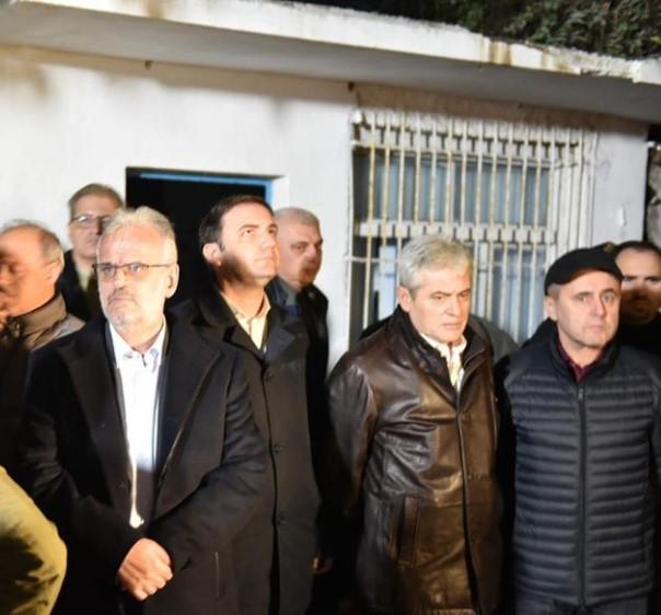 Амхети, Џафери и Османи во посета ма погодените места во Албанија