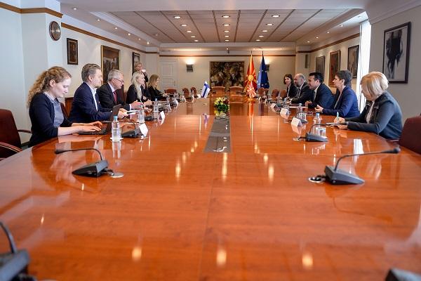 Заев-Охисало: Континуирана поддршка од Финска за евроинтеграцијата на Македонија