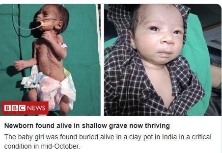 Се слушнал плач од внатре: Предвреме родено дете во Индија живо закопано во гроб