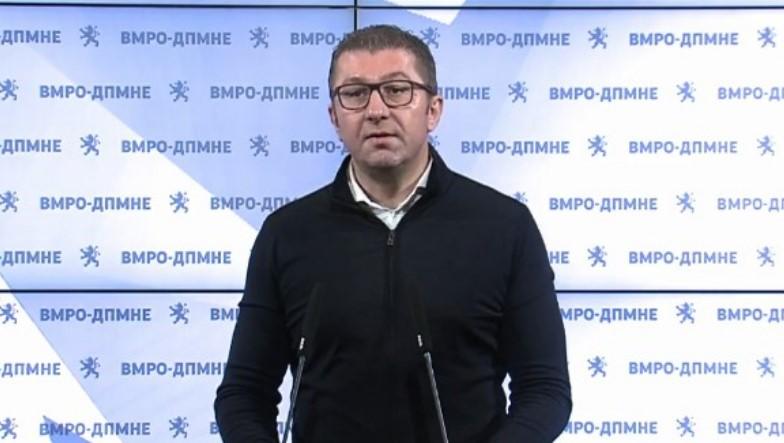 Мицкоски: Заев сакаше гласови од Албанците преку популизам, наместо преку работа и засукани ракави за решавање на проблеми