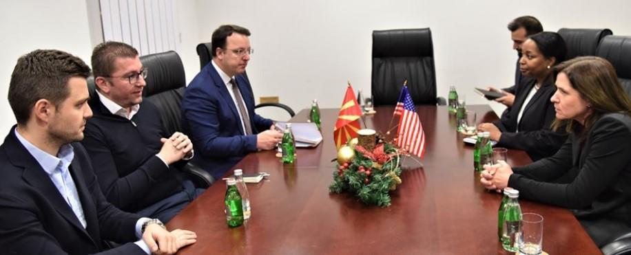 Мицкоски на средба со американскиот амбасадор Брнс (ФОТО)