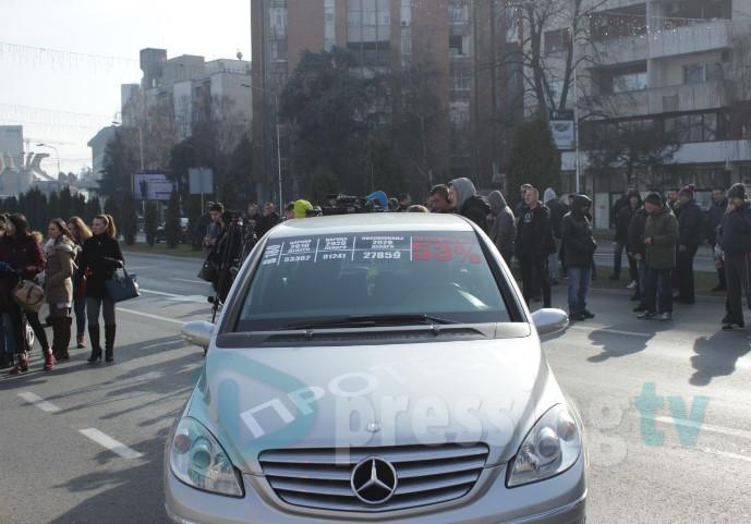 Увозниците на протест пред Владата: Набавката на половен автомобил станува луксуз (ВИДЕО)