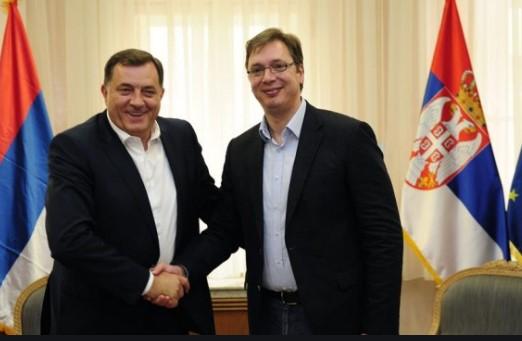 Додик смета дека српската црква во Македонија е загрозена, а Вучиќ дека Албанците имаат големи прави