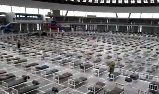 3.000 кревети за заболени од корона на белградскиот саем (ФОТО)