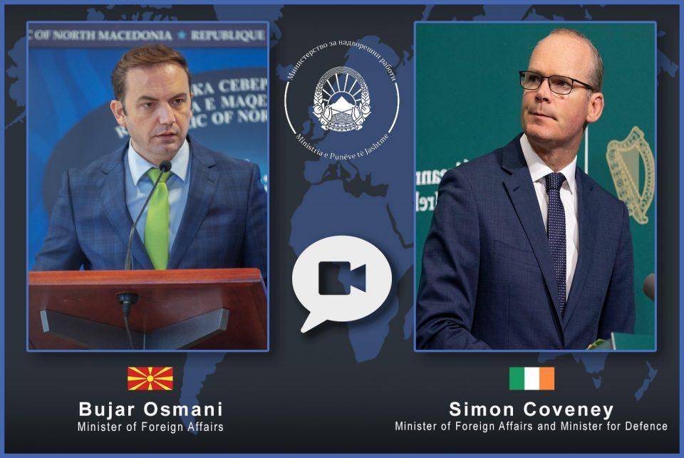 Видео средба на Османи со ирскиот колега Ковни