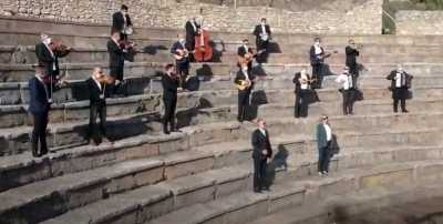 """250 години од раѓањето на Бетовен: """"Ода на радоста"""" изведена на Антички театар во Охрид"""