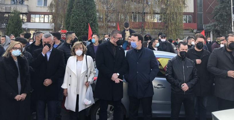 Мицкоски: Тоа што за Заев е договор, за народот е предавство и сопирачка на патот кон обединета Европа