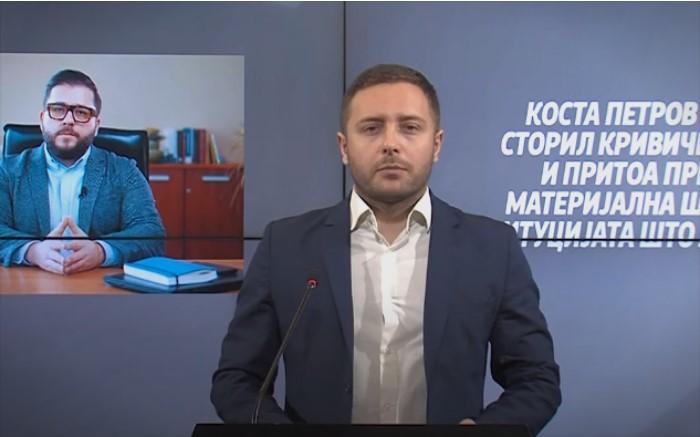 Арсовски: Одговорност за Коста Петров и итна оставка