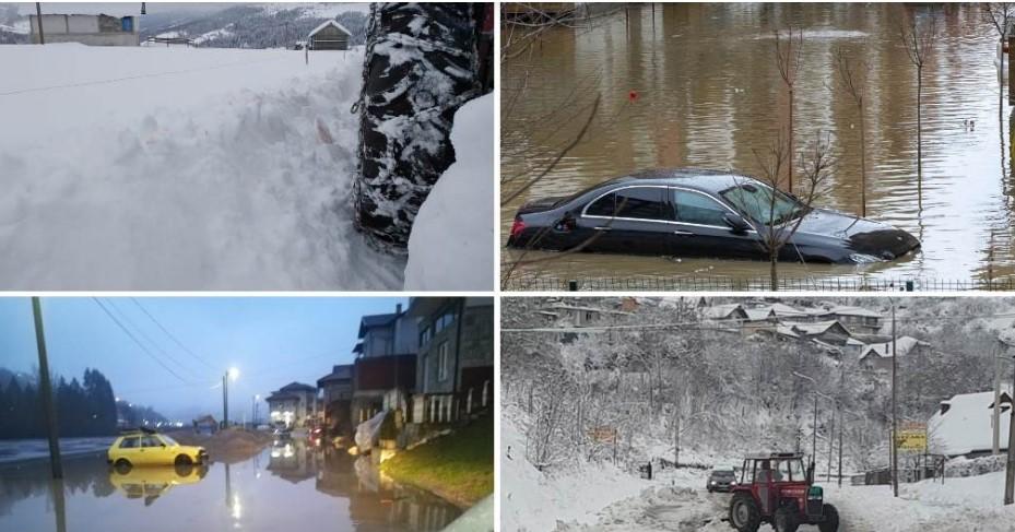 Поплавен југот на Србија: Најкритично кај Бела Паланка, каде едно село е под вода