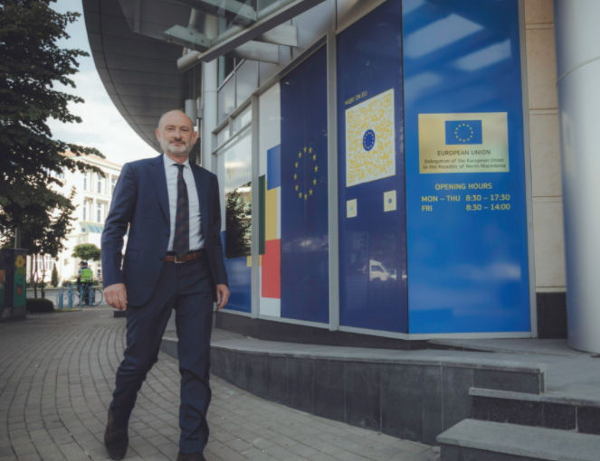 Евроамбасадор Дејвид Гир: Враќањето на јавната доверба во судството е приоритет број еден
