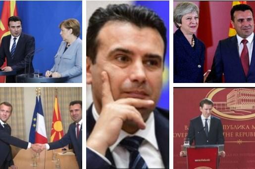 Поддршката исчезна: Од Меркел, Макрон и Меј, Заев се сведе на Борисов