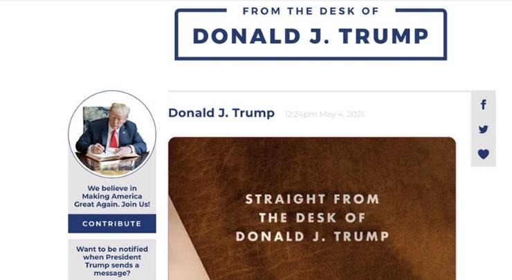 """""""Oд масата на Трамп"""": Поранешниот претседател има своја платформа"""