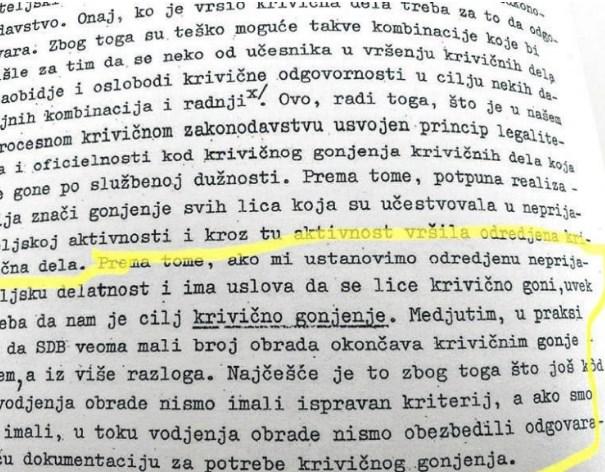 Правилникот на УДБА: Aко избраната личност не сакала да соработува се посегнуавало и кон негова дискредитација